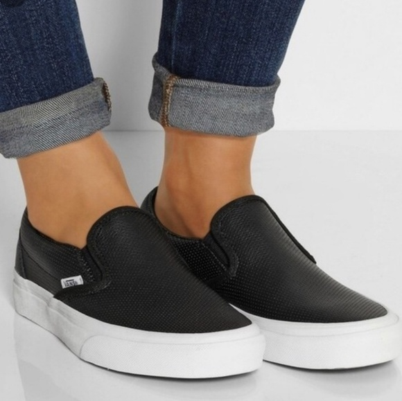 Vans Perforated Asher Leather Slip On